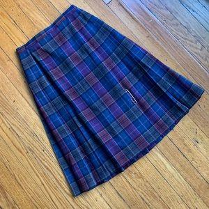 Vintage 1970s Pendleton Plaid Skirt